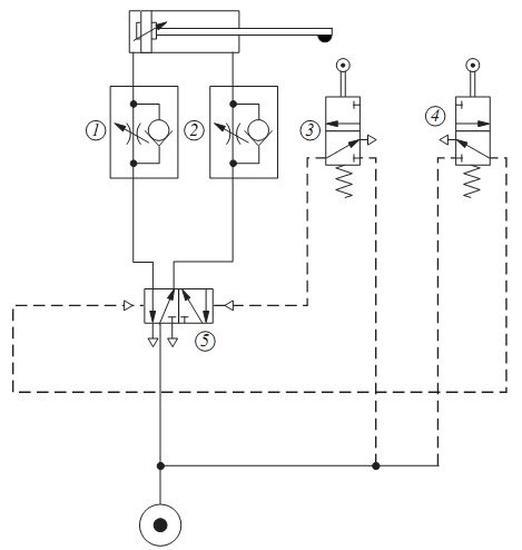 Problem 2 Figure Below Shows A Pneumatic Circuit In Which Four